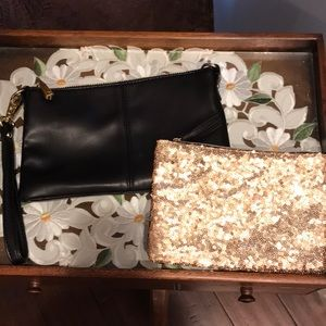 Charming Charlie crossbody/wristlet with free gift